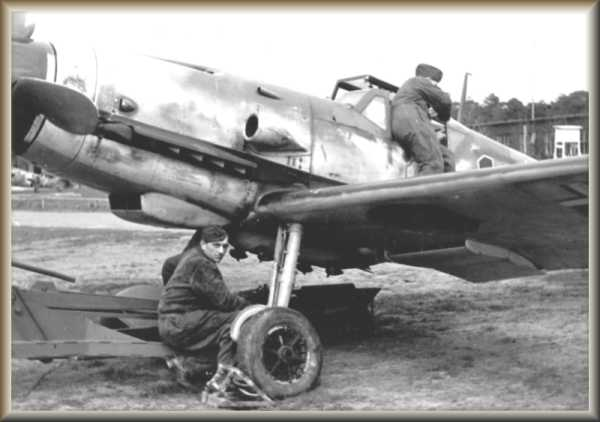 Bf 109 G-1 (Black 1) of Heinz Knoke