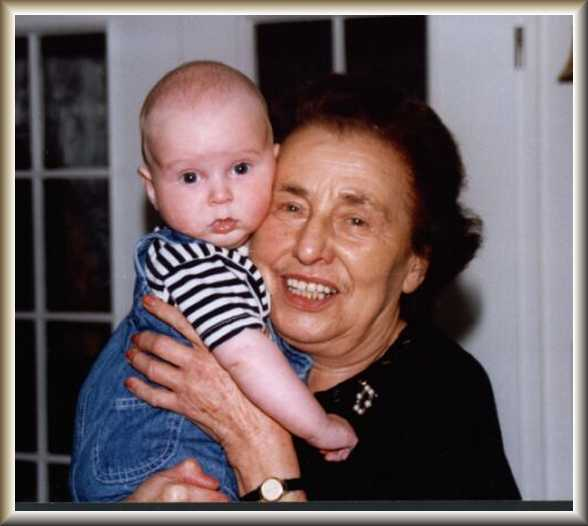 Lilo with Martin, her geat-grandson in 1998